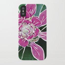 Batik Rhododendron iPhone Case