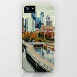 Philadelphia Fall Skyline iPhone Case