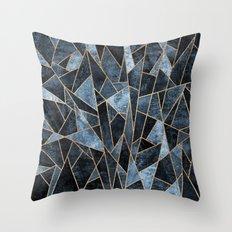 Shattered Soft Dark Blue Throw Pillow