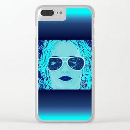 Alabama Blue Clear iPhone Case