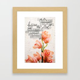 I Know the Plans  |  Orchid Botanical Framed Art Print
