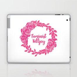 Feminist Killjoy with Beautiful Pink Florals Laptop & iPad Skin