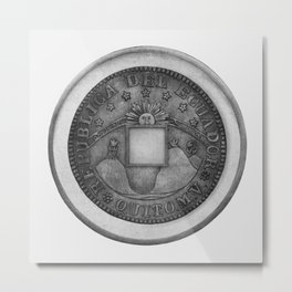 Moby Coin Metal Print