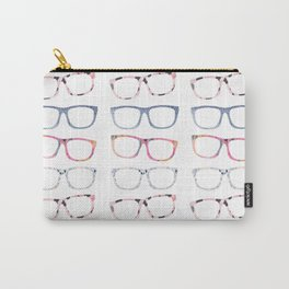 Bespectacled // Watercolor Glasses Print Carry-All Pouch