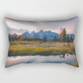 Grand Teton Sunset Rectangular Pillow