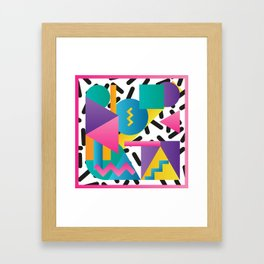 Shapes & Colours Framed Art Print