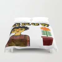 large Duvet Covers featuring Grow Large by Jonny Bateau