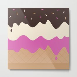Neapolitan Ice Cream Metal Print