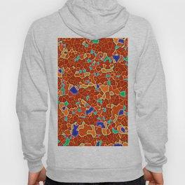 Colorful realistic mozaic print in deep orange Hoody