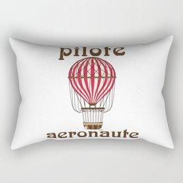 Retro Ballooning Balloonist Hot Air Balloon Pilot Gift Rectangular Pillow