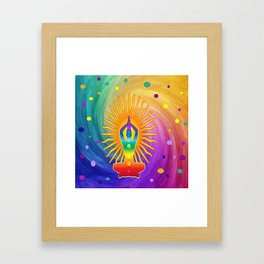 COLORFUL Om Meditation Mantra Chanting DESIGN Framed Art Print