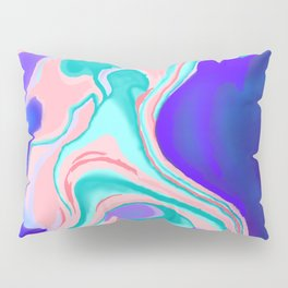 Cotton Candy Marble Pillow Sham