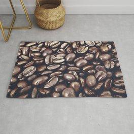 roasted coffee beans texture acrfn Rug
