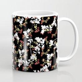 Dark Chinoiserie Floral Collage Pattern Coffee Mug