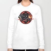 dark side Long Sleeve T-shirts featuring Dark Side by Dooomcat