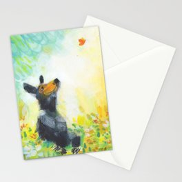 Bear with Butterfly Stationery Cards