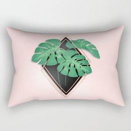 Palm Leaf Abstract Rectangular Pillow