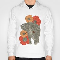 usa Hoodies featuring The Elephant by Valentina Harper