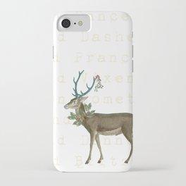 Artsy Christmas reindeer iPhone Case