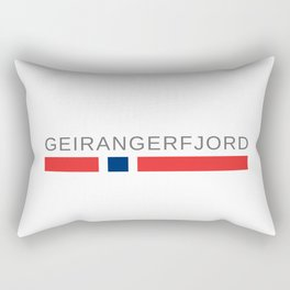 The Geirangerfjord Norway Rectangular Pillow