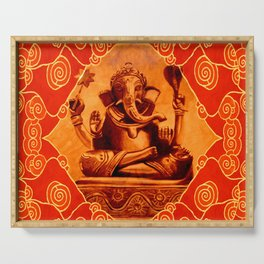 GANESHA - orange Serving Tray