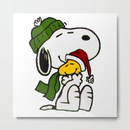 Christmas snoopy Metal Print