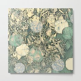 Fossil Abstract Metal Print