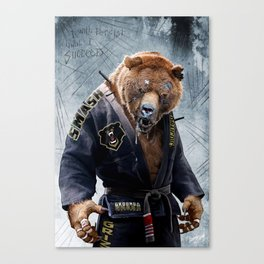 Jiu Jitsu Grizzly Canvas Print