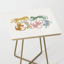 Rainbow Cheetah Side Table