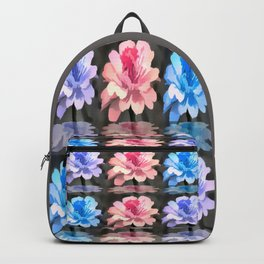 Pastel Painted Floral Reflections Abstract Backpack