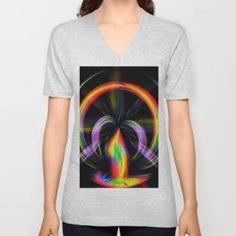 Digital Painting Fire Unisex V-Neck