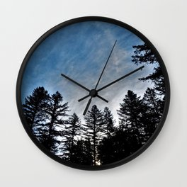 Camp Mornings Wall Clock