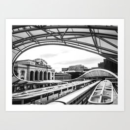 Union Station // Train Travel Downtown Denver Colorado Black and White City Photography Kunstdrucke