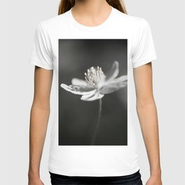 White Anemone Flower in Black And White #decor #society6 #buyart T-shirt