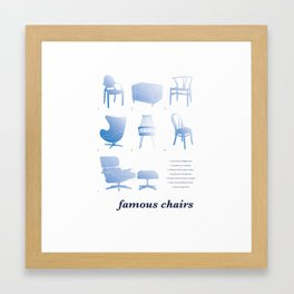 Famous Chair Design Framed Art Print