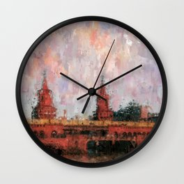 Oberbaumbrücke Berlin City Painting / impressionism style Illustration  / abstract landmarks drawing Wall Clock