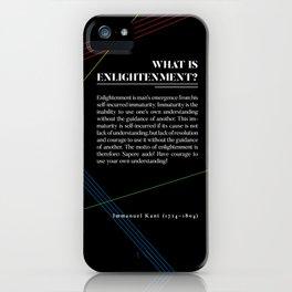 Philosophia I: What is Enlightenment? iPhone Case