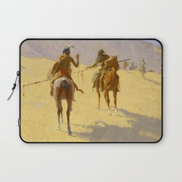 """Frederic Remington Western Art """"The Parley"""" Laptop Sleeve"""