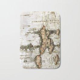 a birch bark Bath Mat