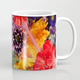 red geraniums flowers floral bouquet Coffee Mug