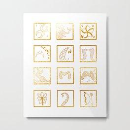 Iconic Princess Power Art Print Metal Print