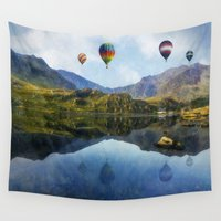 aviation Wall Tapestries featuring Morning Flight by Ian Mitchell