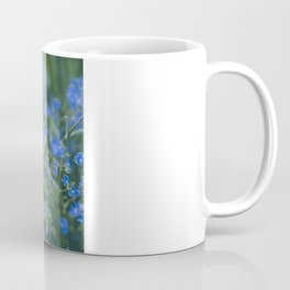 blue flowers. Germander Speedwell. Coffee Mug