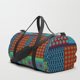 Japanese Style Colorful Patchwork Duffle Bag