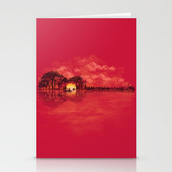 Musical Sunset Stationery Cards