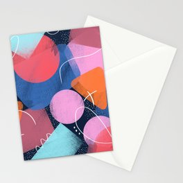 Bright Shapes Stationery Cards