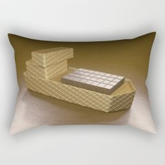 Chocolate Ship - 3D Art Rectangular Pillow