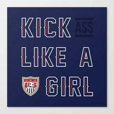 Kick (Ass) Like A Girl Canvas Print