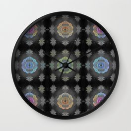 Color Spectrum Resonance Sacred Geometry Glow Print Wall Clock