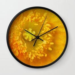 Wood Poppy Wall Clock